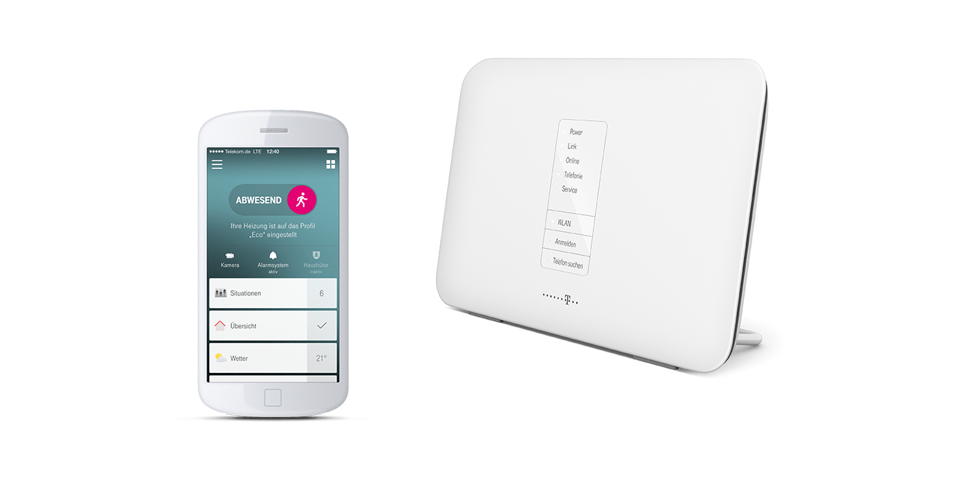 telekom smart home router auf basis von qivicon. Black Bedroom Furniture Sets. Home Design Ideas
