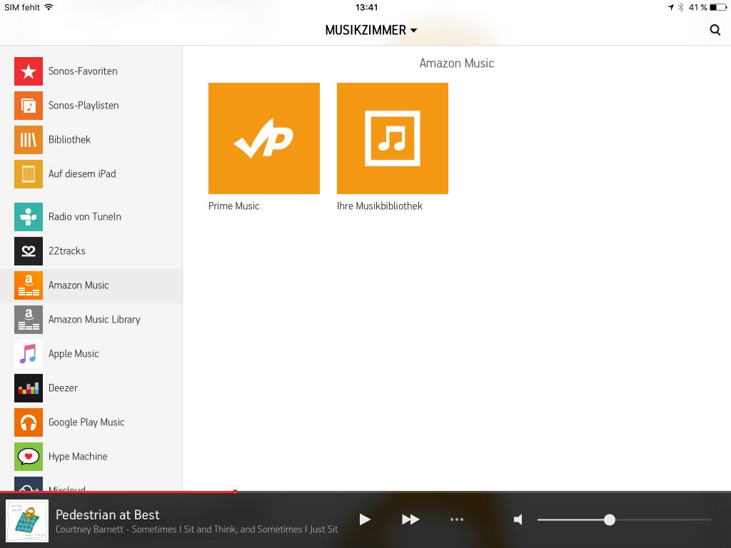 Sonos: Amazon Prime Music jetzt auch verfügbar