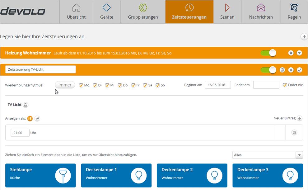 Philips Hue per Devolo Home Control steuern