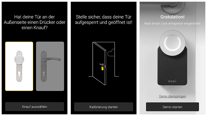 Nuki Smart Lock App: Installation per App