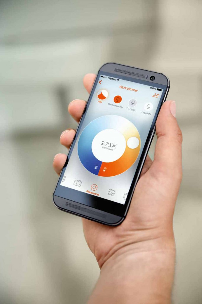 Smartphone-App von Osram Lightify