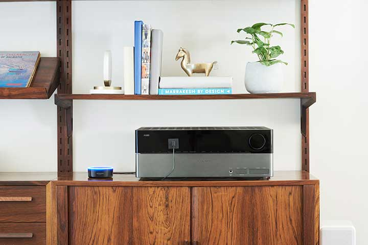 Amazon Echo Dot und Verstärker
