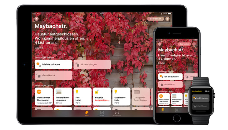Sprachsteuerung im Smart-Home mit iPad, iPhone und Apple Watch