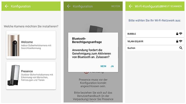 Netatmo Presence: Installation per App
