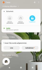 SmartThings App: Sicherheitssystem aktivieren