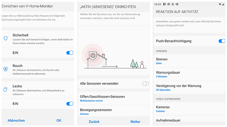 SmartThings App: V-Home-Monitor einrichten