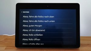 Amazon Echo Show: Routinen