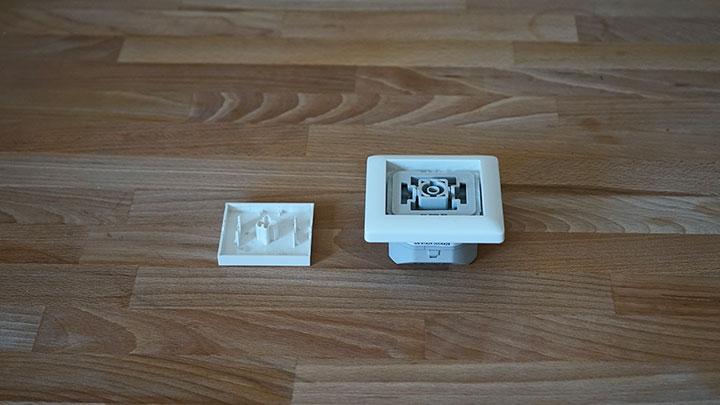 innogy SmartHome Unterputz-Rollladensteuerung: halb zusammengebaut