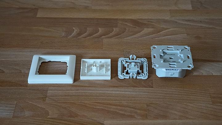 innogy SmartHome Unterputz-Rollladensteuerung: Einzelteile