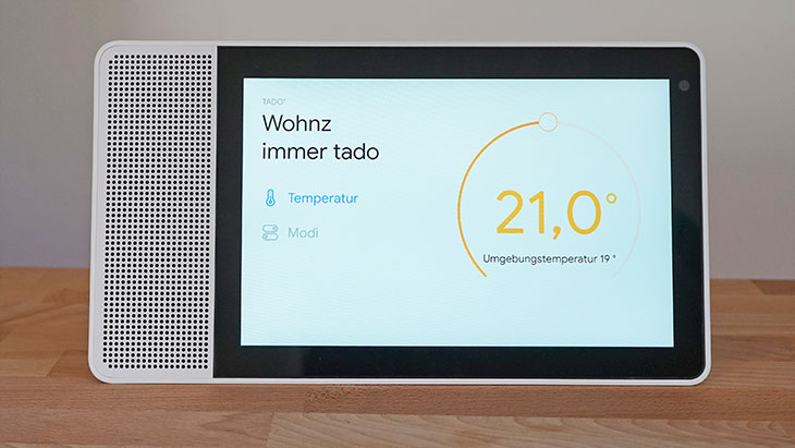 Lenovo Smart Display: Heizungssteuerung