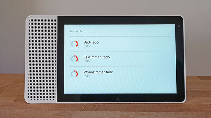Lenovo Smart Display: Heizungen