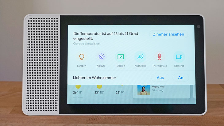 Lenovo Smart Display: Hauptmenü