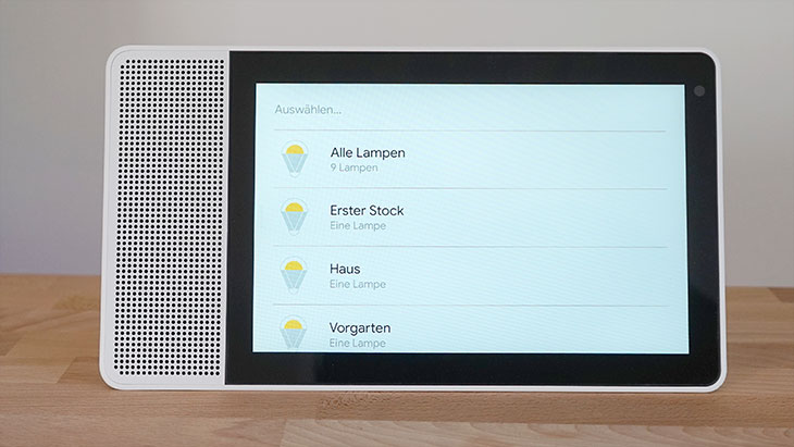 Lenovo Smart Display: Lampen