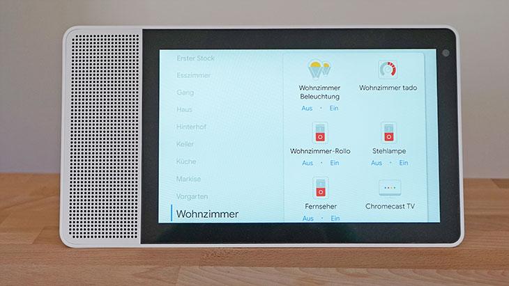 Lenovo Smart Display: Zimmer