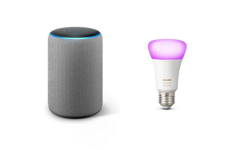 Amazon Echo Plus mit Philips Hue-Lampe