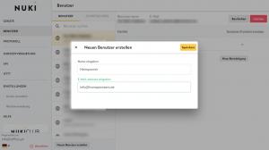 Nuki Web: Neuen Nutzer anlegen