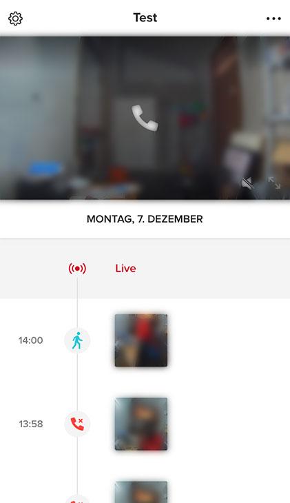 Netatmo Videotürklingel Test: App