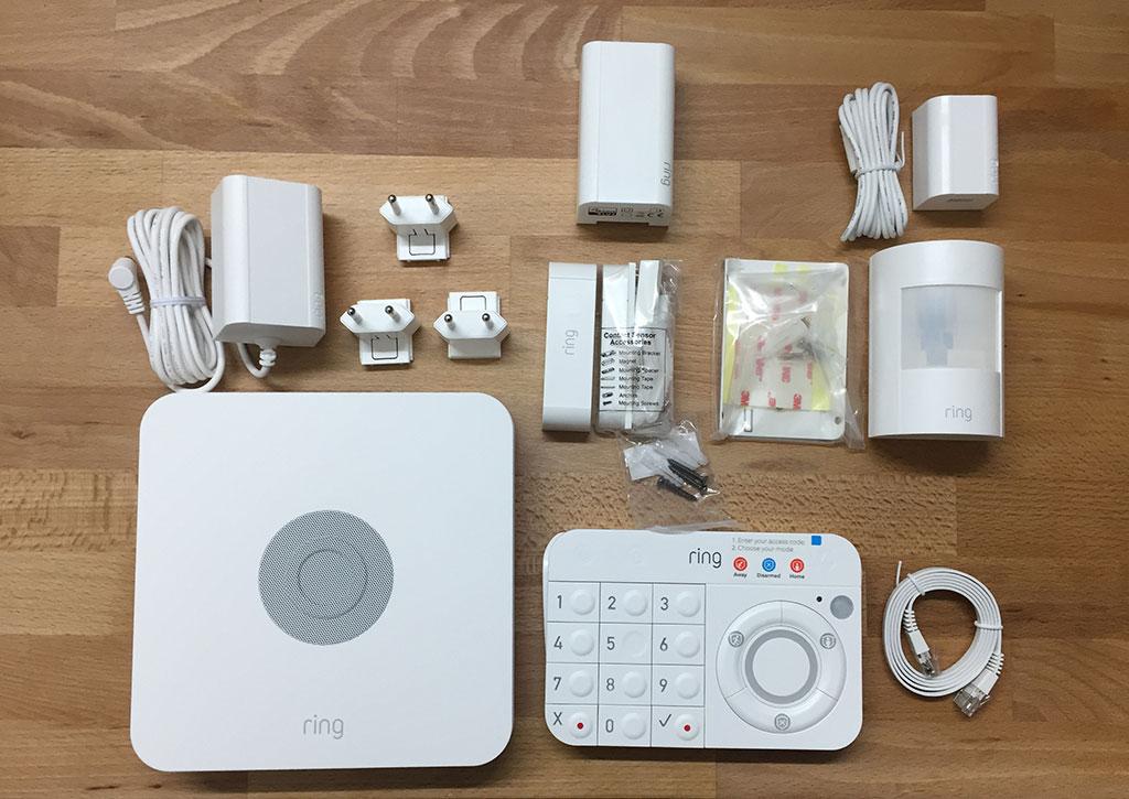 Ring Alarm Test: Paketinhalt