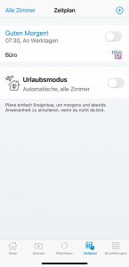 WiZ App: Zeitpläne